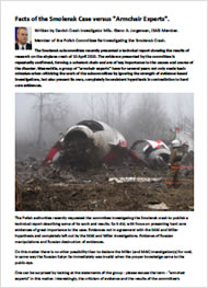 "Smolensk Crash Facts v. ""Armchair Experts"""