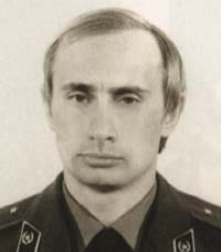 KGB Colonel, Vladimir Putin in Dresden, East Germany.