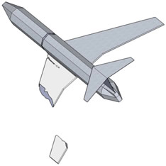 Fig. 16. More inclined plane is continuing its journey, leaving behind the wing tip.