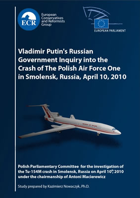 Vladimir Putin's Russian Government Inquiry into the Crash of The Polish Air Force One in Smolensk, Russia, April 10, 2010.