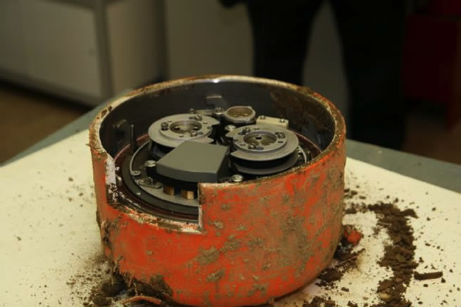 Cockpit voice recorder from the tragic April 10, 2010 flight in the protective case