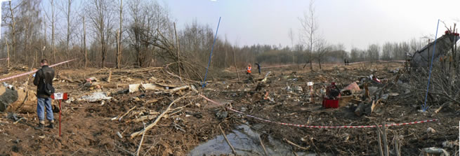 A picture of the main crash site.