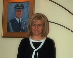 Ewa Błasik, the wife of the late Polish Air Force Commander General Andrzej Błasik.