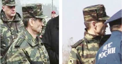 Smolensk Plane Crash, 2010: Rashid Nurgaliyev during the 2013 exercises (left), and at the location of the Polish President's plane crash in 2010 (right).