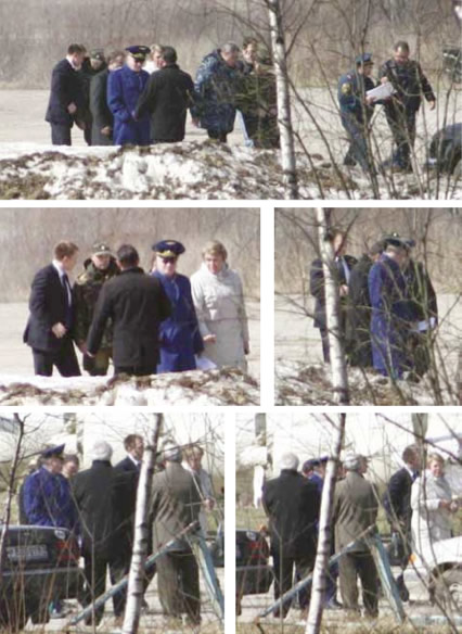 Smolensk, April 10, 2010, 13:35 p.m.: A special-purpose group walks in the direction of the tragedy.