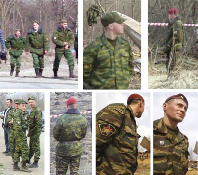Photos in the bottom row show soldiers wearing maroon berets.