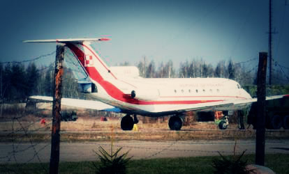Yak-40 piloted by Capt. Wosztyl in Smolensk, Russia
