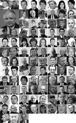 April 10, 2010 Smolensk Crash Victims